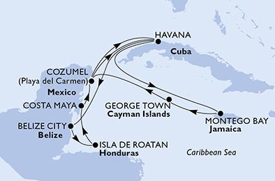 11 12 18 Ind Havana útvonalterv 14 éjszaka 3